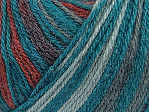 Fiber Content 40% Acrylic, 35% Wool, 25% Alpaca, Teal, Brand Ice Yarns, Grey, Copper, Yarn Thickness 2 Fine  Sport, Baby, fnt2-36989
