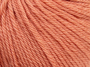 Fiber Content 100% Wool, Light Salmon, Brand Ice Yarns, Yarn Thickness 4 Medium  Worsted, Afghan, Aran, fnt2-38004