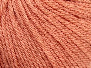 Fiber Content 100% Wool, Light Salmon, Brand Ice Yarns, Yarn Thickness 4 Medium  Worsted, Afghan, Aran, fnt2-38004