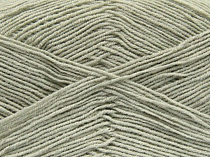 Fiber Content 55% Cotton, 45% Acrylic, Light Grey, Brand Ice Yarns, Yarn Thickness 1 SuperFine  Sock, Fingering, Baby, fnt2-38667