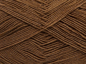 Fiber Content 55% Cotton, 45% Acrylic, Brand Ice Yarns, Brown, Yarn Thickness 1 SuperFine  Sock, Fingering, Baby, fnt2-38668