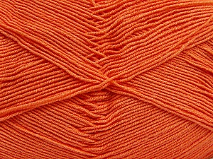 Fiber Content 55% Cotton, 45% Acrylic, Light Orange, Brand Ice Yarns, Yarn Thickness 1 SuperFine  Sock, Fingering, Baby, fnt2-38671