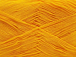 Fiber Content 55% Cotton, 45% Acrylic, Yellow, Brand Ice Yarns, Yarn Thickness 1 SuperFine  Sock, Fingering, Baby, fnt2-38673