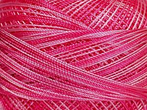 Fiber Content 100% Micro Fiber, Pink Shades, Brand Ice Yarns, Yarn Thickness 0 Lace  Fingering Crochet Thread, fnt2-40206