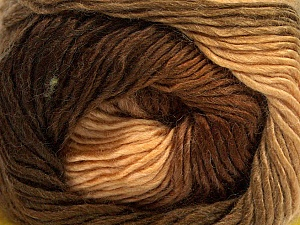 Fiber Content 50% Wool, 50% Acrylic, Brand Ice Yarns, Brown Shades, Yarn Thickness 2 Fine Sport, Baby, fnt2-40623