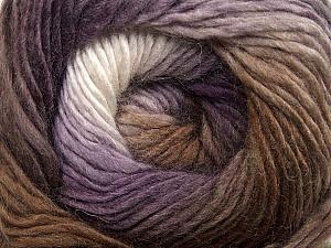 Fiber Content 50% Wool, 50% Acrylic, White, Purple, Brand Ice Yarns, Brown Shades, Yarn Thickness 2 Fine Sport, Baby, fnt2-40629