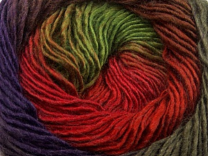 Fiber Content 50% Wool, 50% Acrylic, Red, Purple, Brand Ice Yarns, Green, Brown, Yarn Thickness 2 Fine  Sport, Baby, fnt2-40631