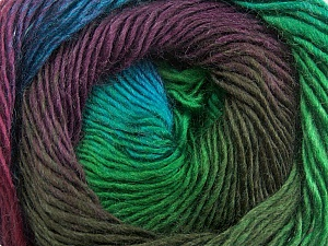 Fiber Content 50% Wool, 50% Acrylic, Turquoise, Brand Ice Yarns, Green, Brown, Yarn Thickness 2 Fine  Sport, Baby, fnt2-40632