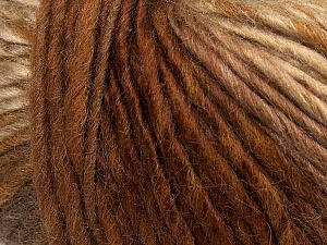 Fiber Content 60% Wool, 40% Acrylic, Brand Ice Yarns, Camel, Brown Shades, Yarn Thickness 4 Medium Worsted, Afghan, Aran, fnt2-40663