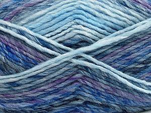 Fiber Content 75% Acrylic, 25% Wool, Purple, Brand Ice Yarns, Grey, Blue Shades, Yarn Thickness 5 Bulky Chunky, Craft, Rug, fnt2-40816