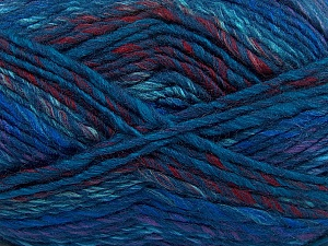 Fiber Content 75% Acrylic, 25% Wool, Purple, Navy, Brand Ice Yarns, Burgundy, Blue, Yarn Thickness 5 Bulky Chunky, Craft, Rug, fnt2-40817