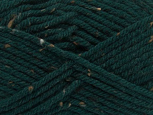 Fiber Content 72% Acrylic, 3% Viscose, 25% Wool, Brand Ice Yarns, Dark Green, Yarn Thickness 6 SuperBulky  Bulky, Roving, fnt2-40838