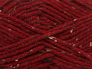 Fiber Content 72% Acrylic, 3% Viscose, 25% Wool, Brand Ice Yarns, Dark Red, Yarn Thickness 6 SuperBulky  Bulky, Roving, fnt2-40840