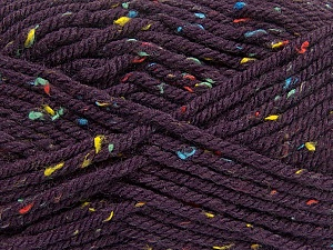 Fiber Content 72% Acrylic, 3% Viscose, 25% Wool, Purple, Brand Ice Yarns, Yarn Thickness 6 SuperBulky  Bulky, Roving, fnt2-40844