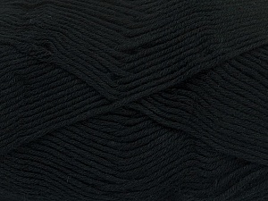 Fiber Content 50% Bamboo, 50% Cotton, Brand Ice Yarns, Black, Yarn Thickness 2 Fine  Sport, Baby, fnt2-41437