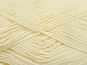 Fiber Content 50% Bamboo, 50% Cotton, Brand Ice Yarns, Cream, Yarn Thickness 2 Fine  Sport, Baby, fnt2-41441