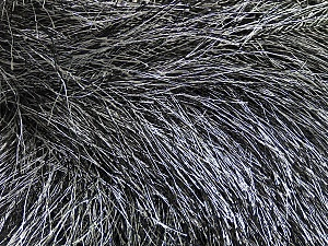 Fiber Content 100% Polyester, White, Brand Ice Yarns, Black, Yarn Thickness 6 SuperBulky  Bulky, Roving, fnt2-42065