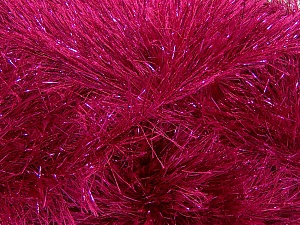 Fiber Content 75% Polyester, 25% Metallic Lurex, Brand Ice Yarns, Fuchsia, Yarn Thickness 5 Bulky  Chunky, Craft, Rug, fnt2-42263