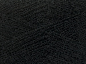 Fiber Content 100% Virgin Wool, Brand Ice Yarns, Black, Yarn Thickness 3 Light  DK, Light, Worsted, fnt2-42303