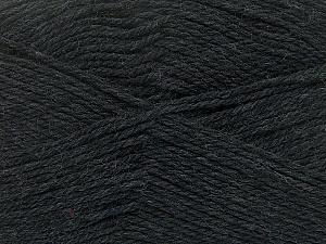 Fiber Content 100% Virgin Wool, Brand Ice Yarns, Anthracite Black, Yarn Thickness 3 Light DK, Light, Worsted, fnt2-42304
