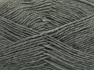 Fiber Content 100% Virgin Wool, Brand Ice Yarns, Grey, Yarn Thickness 3 Light  DK, Light, Worsted, fnt2-42305