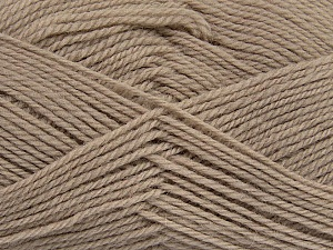 Fiber Content 100% Virgin Wool, Brand Ice Yarns, Beige, Yarn Thickness 3 Light  DK, Light, Worsted, fnt2-42306