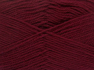 Fiber Content 100% Virgin Wool, Brand Ice Yarns, Burgundy, Yarn Thickness 3 Light  DK, Light, Worsted, fnt2-42309
