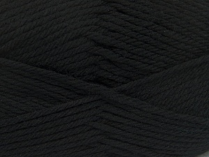 Fiber Content 50% Acrylic, 50% Polyamide, Brand Ice Yarns, Black, Yarn Thickness 3 Light DK, Light, Worsted, fnt2-42368