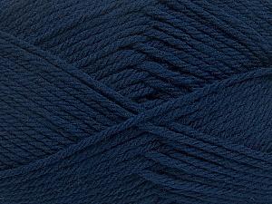 Fiber Content 50% Acrylic, 50% Polyamide, Navy, Brand Ice Yarns, Yarn Thickness 3 Light DK, Light, Worsted, fnt2-42373