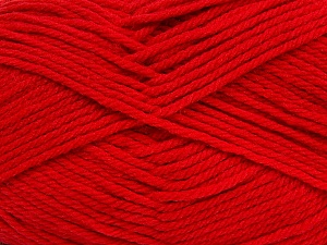 Fiber Content 50% Acrylic, 50% Polyamide, Tomato Red, Brand Ice Yarns, Yarn Thickness 3 Light DK, Light, Worsted, fnt2-42378