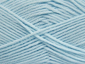 Fiber Content 50% Polyamide, 50% Acrylic, Brand Ice Yarns, Baby Blue, Yarn Thickness 3 Light DK, Light, Worsted, fnt2-42386