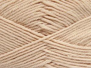 Fiber Content 50% Acrylic, 50% Polyamide, Light Beige, Brand Ice Yarns, Yarn Thickness 3 Light DK, Light, Worsted, fnt2-42388