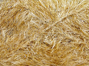 Fiber Content 75% Polyester, 25% Metallic Lurex, Brand Ice Yarns, Gold, Cream, Yarn Thickness 5 Bulky  Chunky, Craft, Rug, fnt2-42668