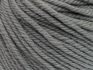 SUPERWASH WOOL BULKY is a bulky weight 100% superwash wool yarn. Perfect stitch definition, and a soft-but-sturdy finished fabric. Projects knit and crocheted in SUPERWASH WOOL BULKY are machine washable! Lay flat to dry. Fiber Content 100% Superwash Wool, Brand Ice Yarns, Grey, Yarn Thickness 5 Bulky  Chunky, Craft, Rug, fnt2-42820