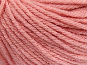 SUPERWASH WOOL BULKY is a bulky weight 100% superwash wool yarn. Perfect stitch definition, and a soft-but-sturdy finished fabric. Projects knit and crocheted in SUPERWASH WOOL BULKY are machine washable! Lay flat to dry. Fiber Content 100% Superwash Wool, Brand Ice Yarns, Baby Pink, Yarn Thickness 5 Bulky  Chunky, Craft, Rug, fnt2-42846