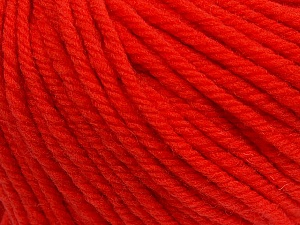 SUPERWASH WOOL BULKY is a bulky weight 100% superwash wool yarn. Perfect stitch definition, and a soft-but-sturdy finished fabric. Projects knit and crocheted in SUPERWASH WOOL BULKY are machine washable! Lay flat to dry. Fiber Content 100% Superwash Wool, Tomato Red, Brand Ice Yarns, Yarn Thickness 5 Bulky Chunky, Craft, Rug, fnt2-42847