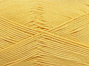 Fiber Content 50% Viscose, 50% Bamboo, Yellow, Brand Ice Yarns, Yarn Thickness 2 Fine  Sport, Baby, fnt2-43035