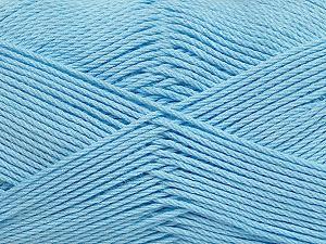 Fiber Content 50% Viscose, 50% Bamboo, Light Blue, Brand Ice Yarns, Yarn Thickness 2 Fine  Sport, Baby, fnt2-43037