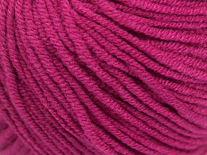 Fiber Content 50% Cotton, 50% Acrylic, Brand Ice Yarns, Dark Fuchsia, Yarn Thickness 3 Light  DK, Light, Worsted, fnt2-43069
