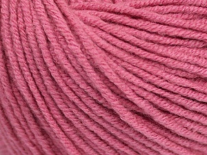 Fiber Content 50% Cotton, 50% Acrylic, Rose Pink, Brand Ice Yarns, Yarn Thickness 3 Light  DK, Light, Worsted, fnt2-43070