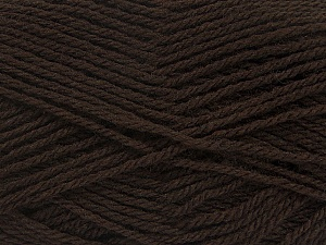 Fiber Content 70% Acrylic, 30% Wool, Brand Ice Yarns, Dark Brown, Yarn Thickness 2 Fine  Sport, Baby, fnt2-43362