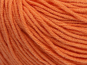 Fiber Content 50% Acrylic, 50% Cotton, Light Orange, Brand Ice Yarns, Yarn Thickness 3 Light  DK, Light, Worsted, fnt2-43834