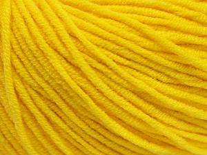 Fiber Content 50% Acrylic, 50% Cotton, Yellow, Brand Ice Yarns, Yarn Thickness 3 Light  DK, Light, Worsted, fnt2-43861