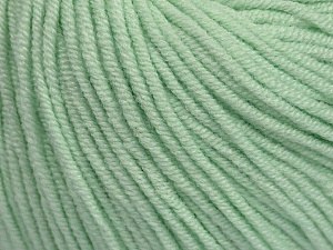 Fiber Content 50% Cotton, 50% Acrylic, Mint Green, Brand Ice Yarns, Yarn Thickness 3 Light  DK, Light, Worsted, fnt2-44637