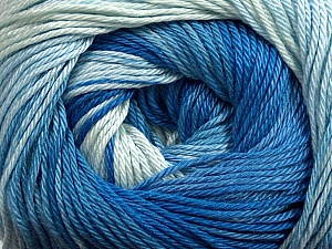 Fiber Content 100% Mercerised Cotton, Brand Ice Yarns, Blue Shades, Yarn Thickness 2 Fine  Sport, Baby, fnt2-44691
