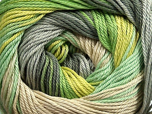 Fiber Content 100% Mercerised Cotton, Brand Ice Yarns, Grey Shades, Green Shades, Beige, Yarn Thickness 2 Fine  Sport, Baby, fnt2-44692