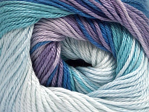 Fiber Content 100% Mercerised Cotton, Lilac Shades, Brand Ice Yarns, Blue Shades, Yarn Thickness 2 Fine  Sport, Baby, fnt2-44693