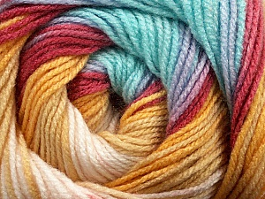 Fiber Content 100% Acrylic, Yellow, Turquoise, Brand Ice Yarns, Burgundy, Beige, Yarn Thickness 3 Light  DK, Light, Worsted, fnt2-44714