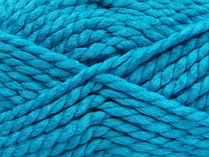 SuperBulky  Fiber Content 55% Acrylic, 45% Wool, Turquoise, Brand Ice Yarns, Yarn Thickness 6 SuperBulky  Bulky, Roving, fnt2-45042