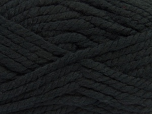 Fiber Content 55% Acrylic, 45% Wool, Brand Ice Yarns, Black, Yarn Thickness 6 SuperBulky  Bulky, Roving, fnt2-45120